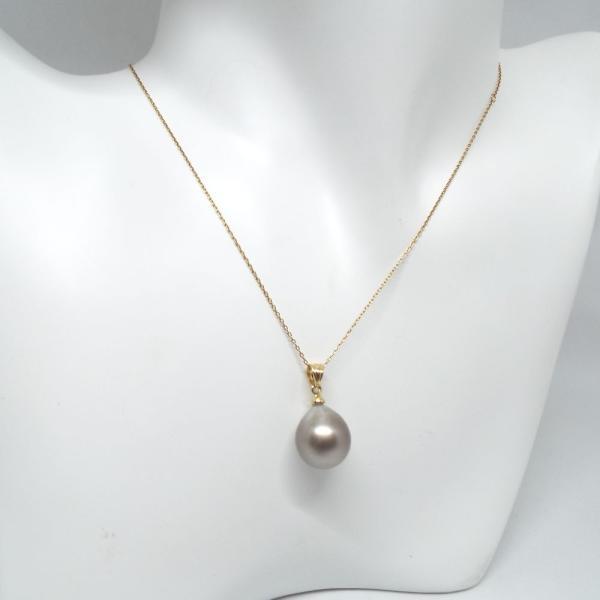 レディースジュエリー 南洋真珠 12ミリ イエローゴールド(K18) ペンダント