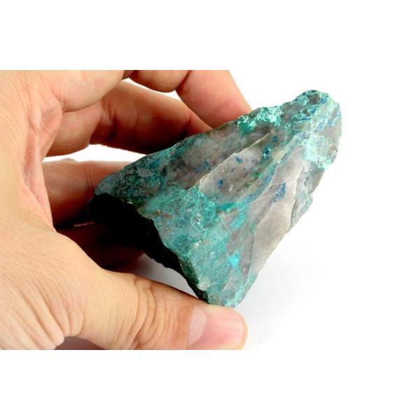 クリソコラ 原石 一面磨き 120g