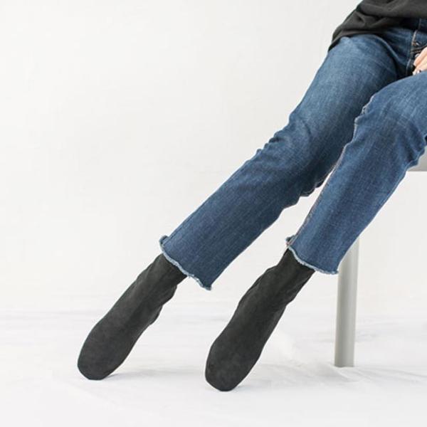 ショートブーツ ブーティ 8cm太めヒール ソックスブーツ 4種類 秋冬新作 おしゃれ トレンド 人気 韓国 ファッション 黒 ブラック