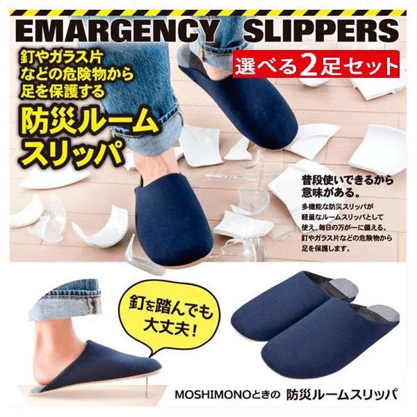 防災 スリッパ 防災ルームスリッパ サイズが選べる 2足セット 防災グッズ ルームシューズ メンズ レディース おしゃれ 可愛い 洗える 非常用 軽量 安全靴 災害時