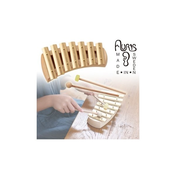 アウリス グロッケン ペンタトニック7音 AUKPH(楽器 おもちゃ こども 北欧 スウェーデン 木製 グロッケン)