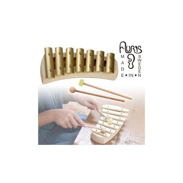 アウリス グロッケン クインタ7音 432Hz AUKPQ(楽器 おもちゃ こども 北欧 スウェーデン 木製 グロッケン)