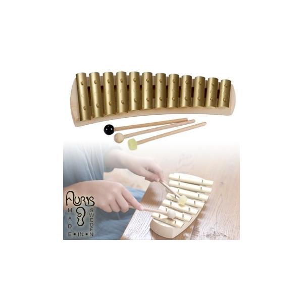 アウリス グロッケン ダイヤトニック12音 AUKDH012(楽器 おもちゃ こども 北欧 スウェーデン 木製)