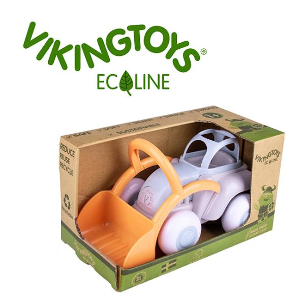 VIKINGTOYSバイキングトイズエコラインミディトラクター156525(バイキングトイズ乗り物おもちゃ北欧デザイン)