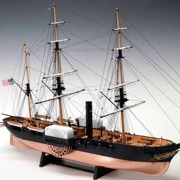 1/120黒船サスケハナ(大型 船 黒船 船体 木製 木 模型 セット 組立 組み立て 趣味 木製模型 キット インテリア 装飾)