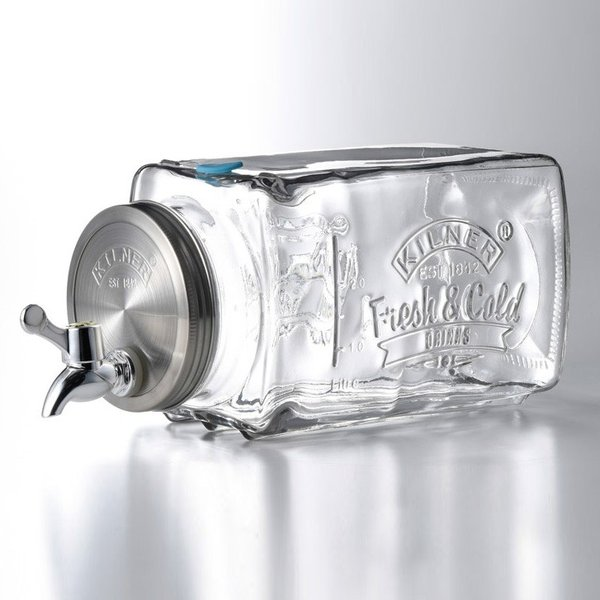KILNER キルナー フリッジディスペンサー 3L 0025001(洋酒 サーバー ドリンクサーバー ガラス 蛇口 おしゃれ) 即納