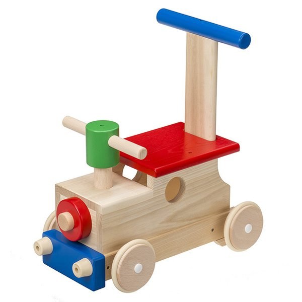 MOCCO モッコ 森のカラフルロコ W-86(押し車 手押し車 赤ちゃん おもちゃ 乗用 男の子 女の子 木製 乗用玩具 足けり)