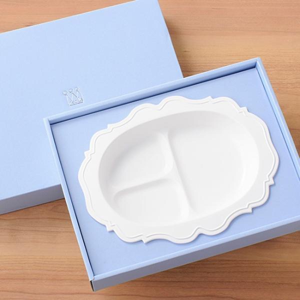 即納 レアーレ Reale 三食皿 ガルソン 白(離乳食 食器 おしゃれ かわいい ベビー食器 子ども食器 子供用食器 子供 ベビー)|kireispot|02