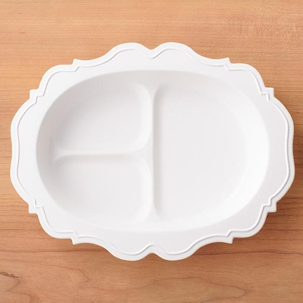 即納 レアーレ Reale 三食皿 ガルソン 白(離乳食 食器 おしゃれ かわいい ベビー食器 子ども食器 子供用食器 子供 ベビー)|kireispot|04