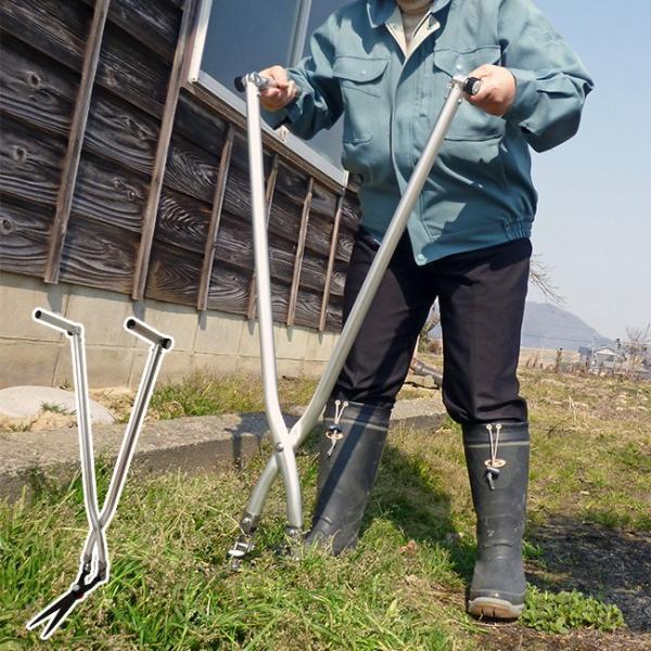 立ち作業用草刈りハサミ マルチ可変タイプ KC-4269(草刈りハサミ 立ち作業 斜面 草刈り 道具 はさみ 草刈 草かり 庭仕事) 即納