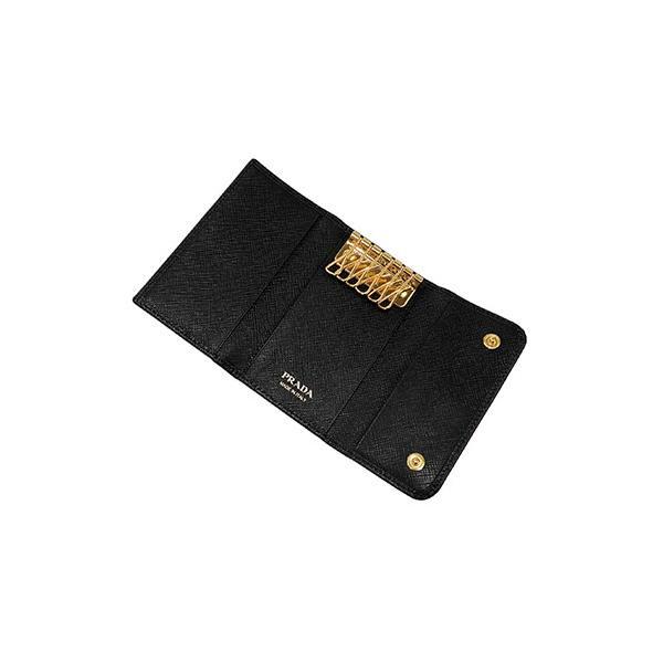プラダ PRADA キーケース 「サラサラ」手触り サフィアーノカーフ SAFFIANO METAL-1PG222-ブラック/BLACK|kireiyasan|02