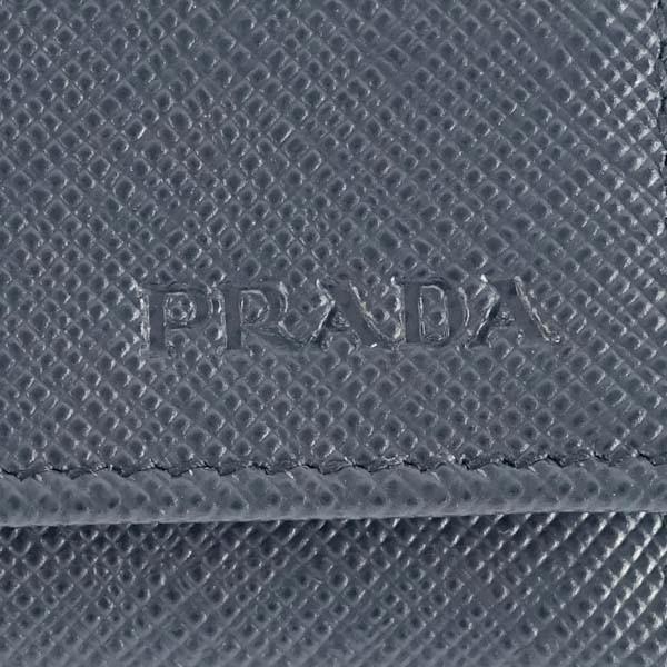 プラダ PRADA キーケース 「サラサラ」手触り サフィアーノカーフ SAFFIANO METAL-2PG222-ブルー/BALTICO|kireiyasan|04