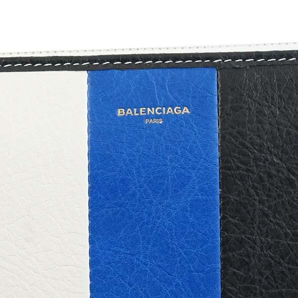 バレンシアガ BALENCIAGA ラウンドファスナー長財布 カバスストライプ 443655-ブルー/ホワイト/ブラック kireiyasan 04