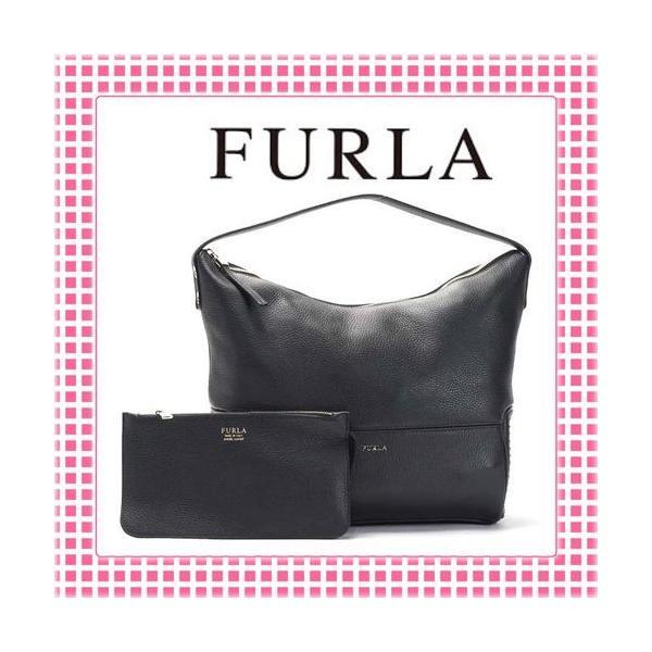 フルラ FURLA ポーチ付 ワンショルダーバッグ アストラ ASTRA-BGK9-809717-ブラック/内側レッド|kireiyasan