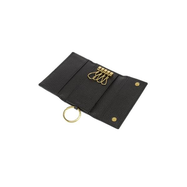 ハンティングワールド HUNTINGWORLD キーケース カラバリ3色 バチューレザーBATTUE ORIGINAL-500-13A-ブラック(黒)  23760|kireiyasan|02