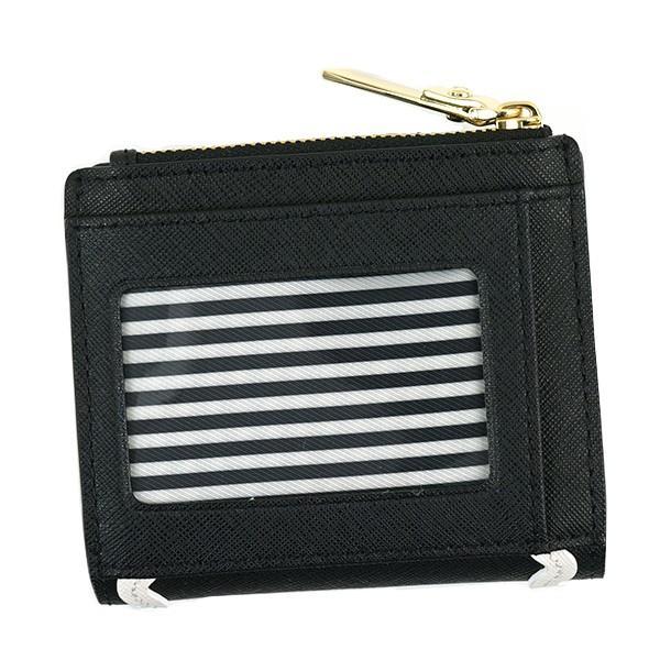 ケイトスペード 二つ折り財布 波型柄ラインプリント CAMERON STREET RIC RAC ADALYN-PWRU5715-ブラック/ホワイト|kireiyasan|04