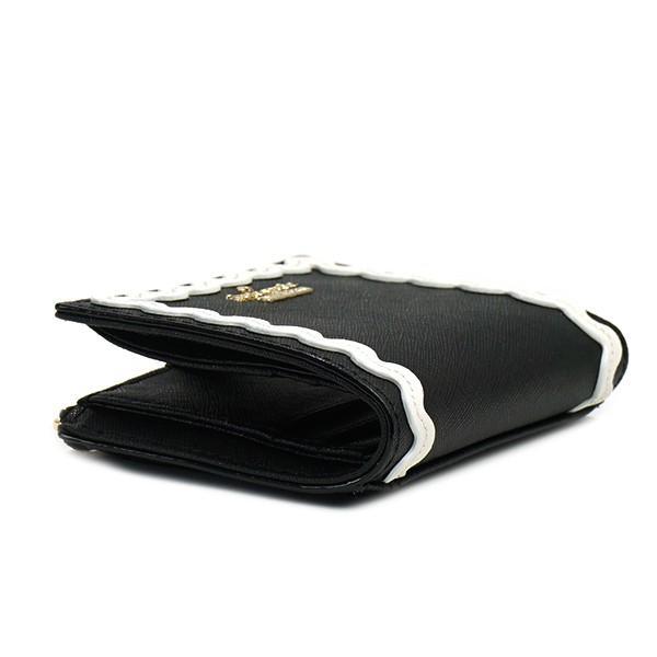 ケイトスペード 二つ折り財布 波型柄ラインプリント CAMERON STREET RIC RAC ADALYN-PWRU5715-ブラック/ホワイト|kireiyasan|05