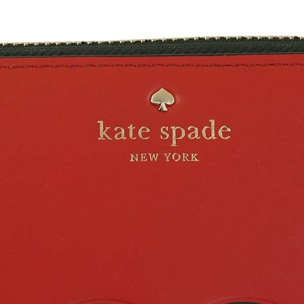 ケイトスペード KATE SPADE ラウンドファスナー長財布 波型柄 KANE ROAD LACEY-PWRU5902-レッド/ブラック|kireiyasan|05