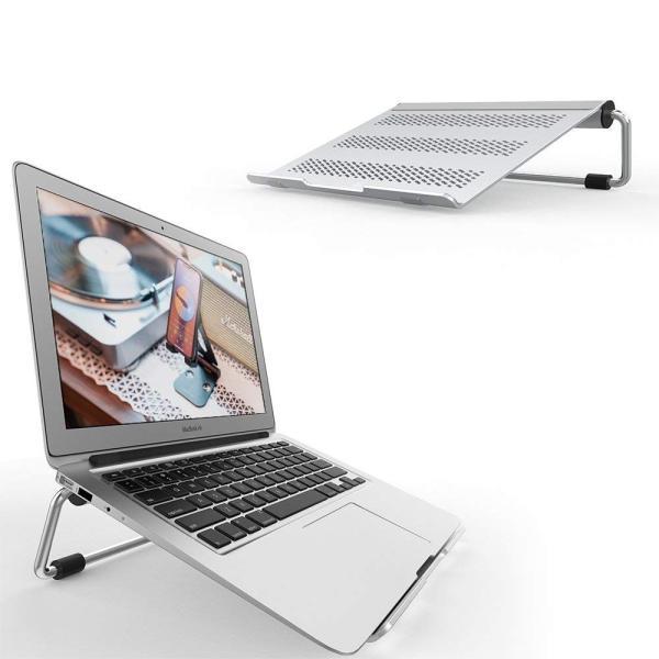ノートパソコンPC スタンド 折り畳み式 冷却台 Lomicall ラップトップスタンド : パソコンホルダー, 高さと角度調節可能, アル|kirincompany|03