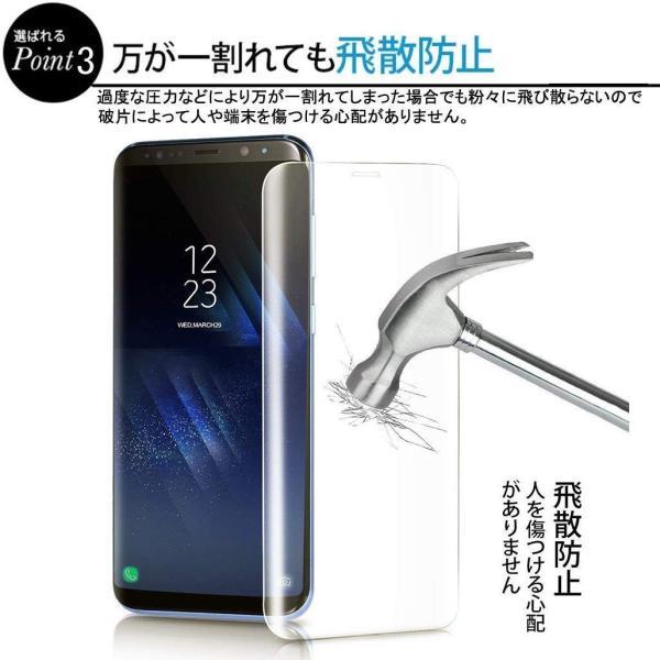GMUMU Samsung Galaxy S8 ガラスフィルム Galaxy S8 フィルム らくらくスマートフォン S8 保護フィルム ギ|kirincompany|04