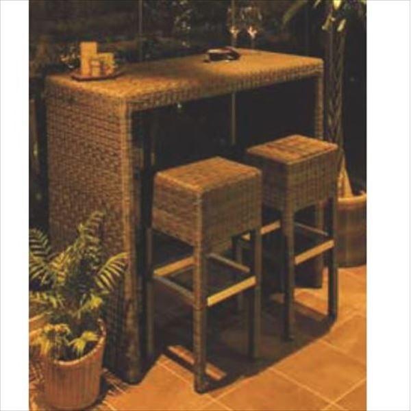 タカショー タリナ カウンターテーブルチェア3点セット 『ガーデンチェア ガーデンテーブル セット』
