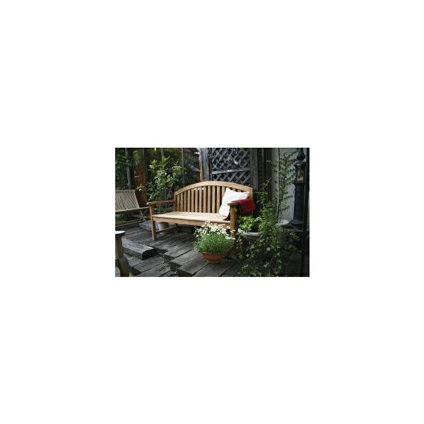ジャービス商事 レインボーベンチ(無塗装) 『ガーデンベンチ』 無塗装