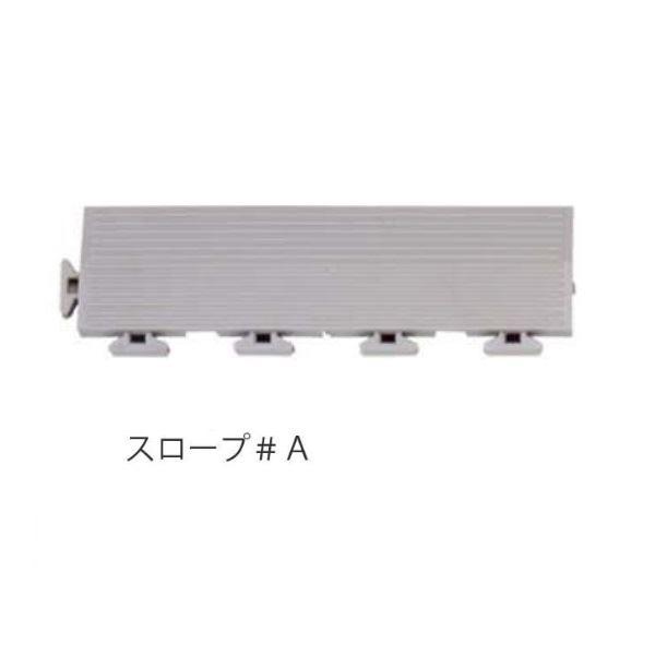 ミヅシマ工業 タフチェッカー スロープ #A 70 × 250 × 15mm 1個 グレー グレー