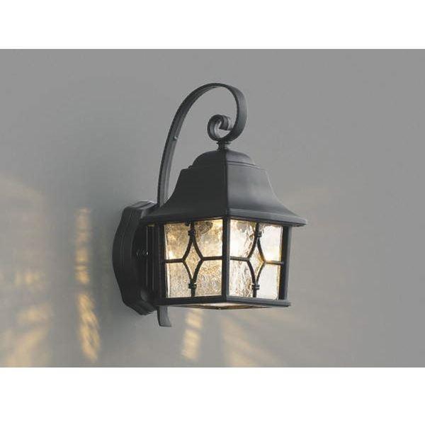 コイズミ ポーチ灯 AU42406L 『ブラケットライト エクステリア照明 ライト』 黒色