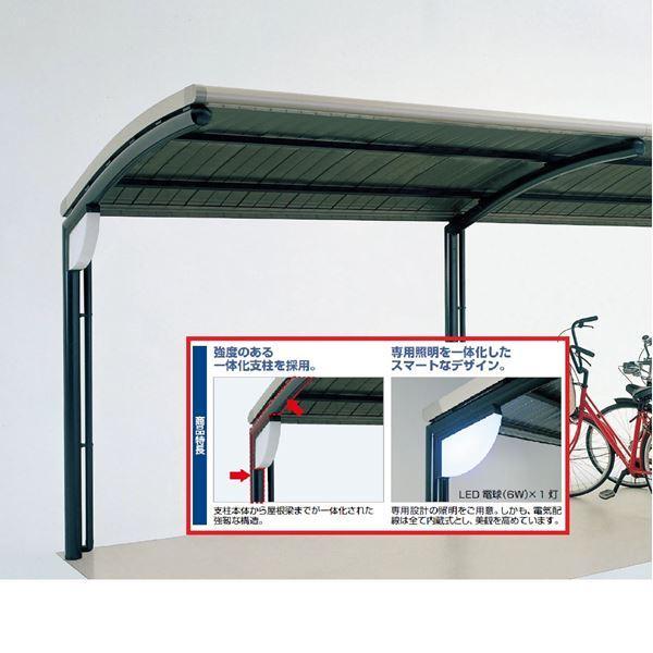 四国化成 サイクルポート SSR オープンタイプ 照明付支柱1本当り ※本体と同時購入価格