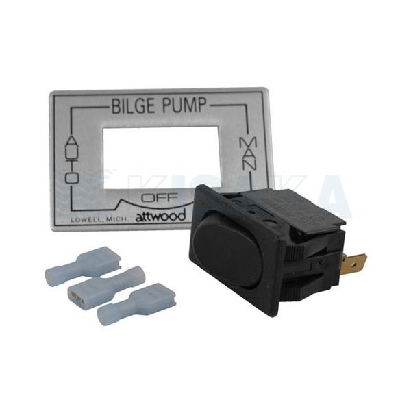 ビルジポンプ スイッチ AUTO-OFF-(MAN) スイッチパネル付き 576153 【あすつく対応】 kisaka-direct