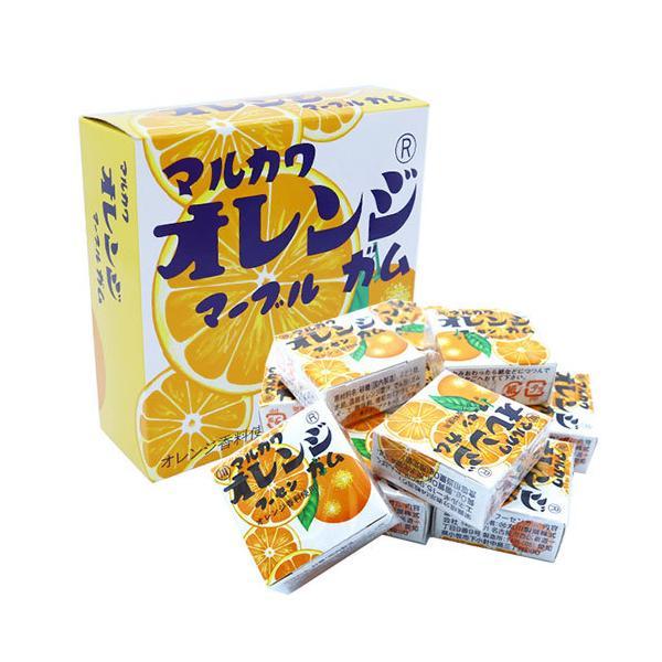 新 ビッグサイズオレンジガム(1個)-C2X2 { ガム お菓子 駄菓子 遠足 子供会 景品 配る用 }