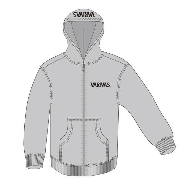 モーリス VARIVAS 公魚工房 フルジップパーカー VAAW-28 グレー M