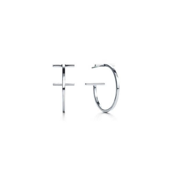 TIFFANY&CO. (ティファニー) T ワイヤー フープ ピアス 並行輸入品 スターリングシルバー