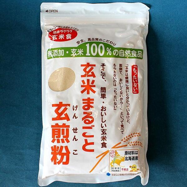 玄米粉 玄米まるごと玄煎粉 山川 北海道産 残留農薬ゼロ グルテンフリー 500g