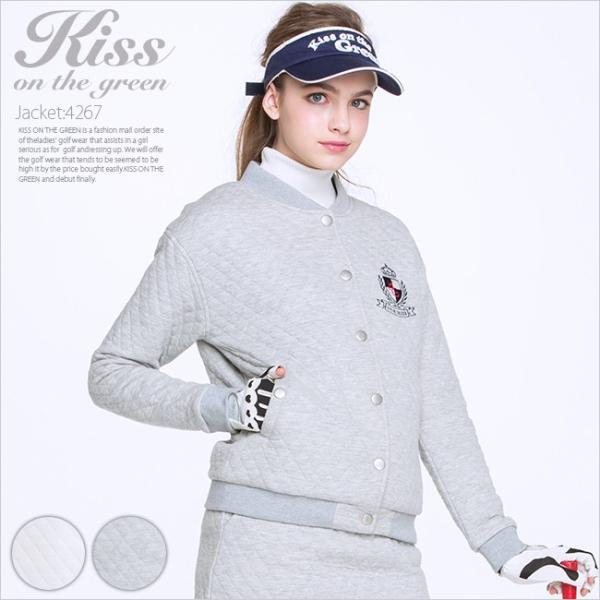 キルティング裏毛ブルゾン/ゴルフ ウェア レディース 女性用|kissonthegreen