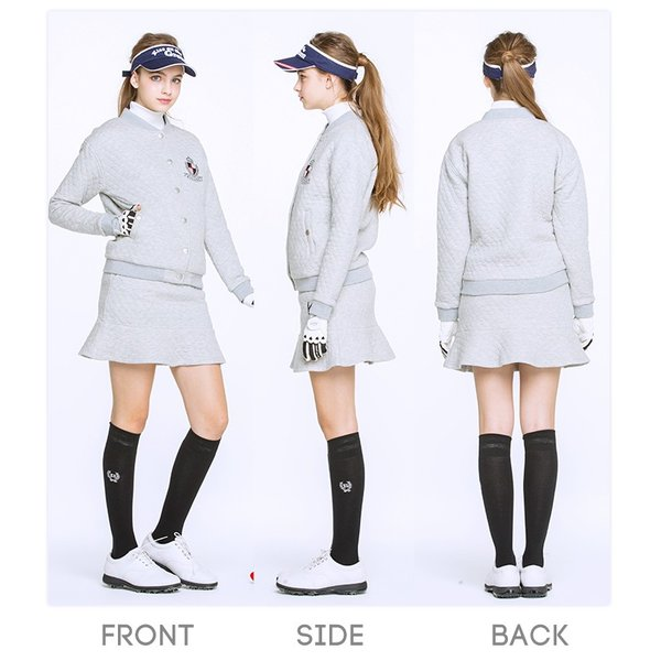 キルティング裏毛ブルゾン/ゴルフ ウェア レディース 女性用|kissonthegreen|06