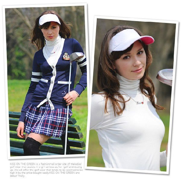 大定番!スタンドカラーのストレッチトップスはオールシーズン使えて便利♪/ゴルフ ウェア レディース 女性用|kissonthegreen|03