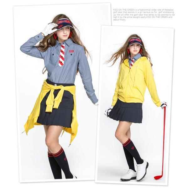 薄手カラーパーカー/ゴルフ ウェア レディース 女性用|kissonthegreen|02