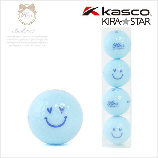 KIRA★キスオンザグリーンコラボ オリジナル アクアスマイルボール(4個入り) /ゴルフ ウェア レディース 女性用|kissonthegreen