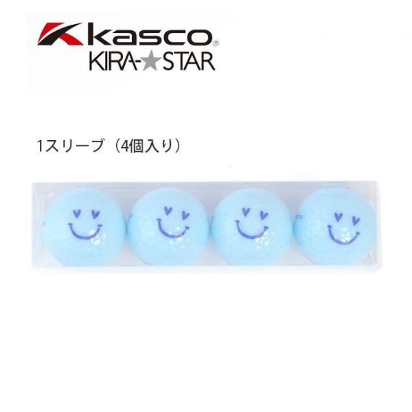 KIRA★キスオンザグリーンコラボ オリジナル アクアスマイルボール(4個入り) /ゴルフ ウェア レディース 女性用|kissonthegreen|02