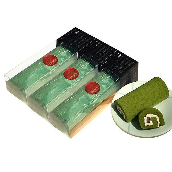【洋菓子アリス】商品 長もっちロール(ハーフ25cm)抹茶か黒ごまの3本セット ※商品9個分に相当【冷凍品】
