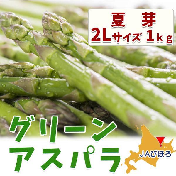JAびほろ グリーンアスパラガス 夏芽 2L 1kg 夏でも美味しいオホーツク 美幌町のアズパラガス