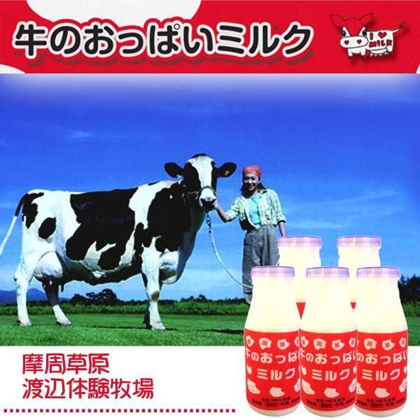 北海道摩周草原 渡辺体験牧場 牛のおっぱいミルク白 牛乳5本セット