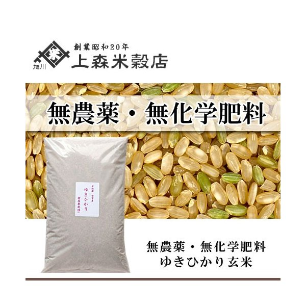 合鴨農法米ゆきひかり 玄米 5kg 北海道産 農薬・化学肥料不使用
