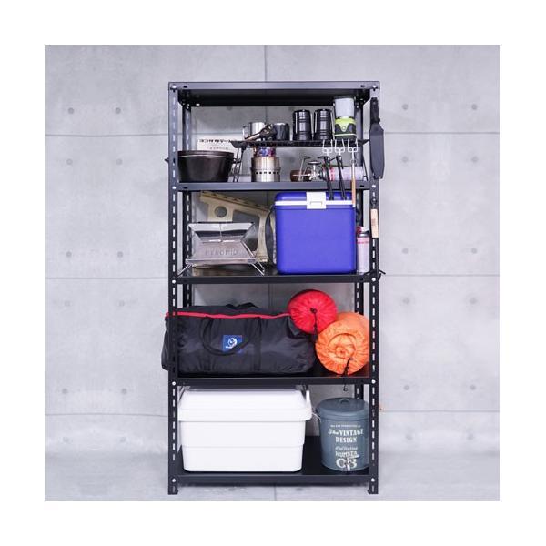 スチールラック スチール棚 業務用 収納 NC-1800 幅180×奥行45×高さ180cm ホワイト ブラック|kitajimasteel|04