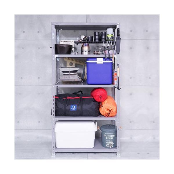 スチールラック スチール棚 業務用 収納 力量-1-24 幅87.5×奥行45×高さ240cm 5段 グレー|kitajimasteel|03