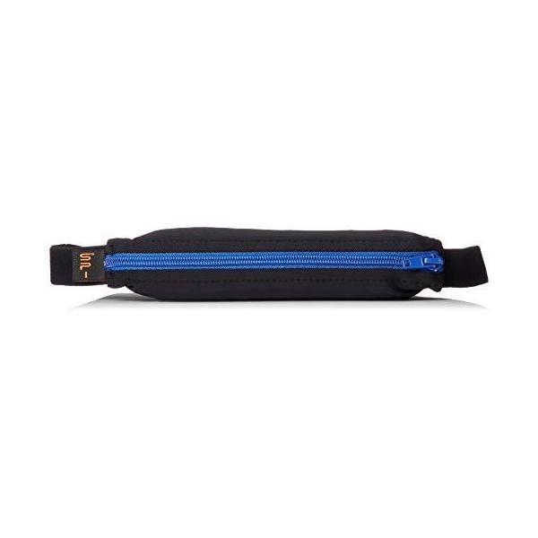 [スパイベルト] SPIBELT 伸びるウエストポーチ ウエストバッグ ランニング トラベル アウトキュリティ ウエストポーチ ブラック/ブルーZip