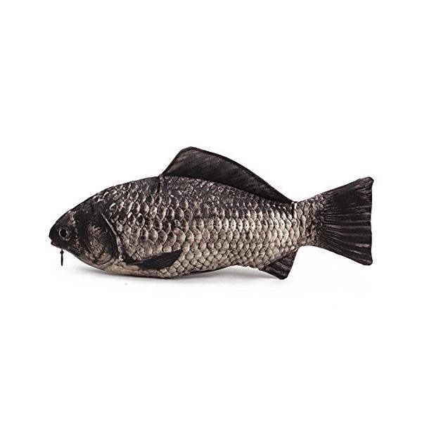 KING DO WAY  30cmx13cm  ペンケース 魚 魚ポーチ  リアルそのもの!ペンケーサリーポーチー 筆箱 小物入れ 人気で かわいい!