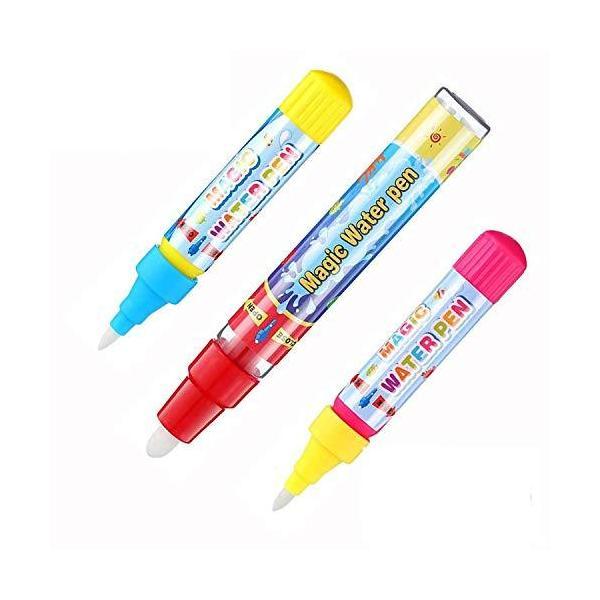お絵かきシート 用 ペン 6本セットお絵かき お絵かきペン 落書き 絵描きシート用 ぬりえペン 水でりえ 誕生日 プレゼント 専用ペン (3本セット)