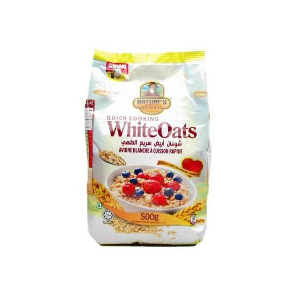 ネイチャーズホワイトオーツ オートミール 500g袋 朝食  輸入食品